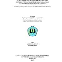 Pengembangan Metode Problem-Based Introduction (PBI) Untuk Meningkatkan Kemampuan Pemahaman Konsep