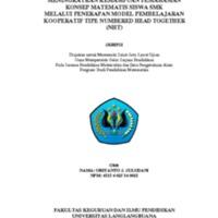 MENINGKATKAN KEMAMPUAN PEMAHAMAN KONSEP MATEMATIS SISWA SMK<br /><br /> MELALUI PENERAPAN MODEL PEMBELAJARAN KOOPERATIF TIPE NUMBERED HEAD TOGETHER (NHT)